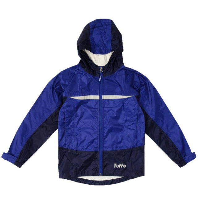 TUFFO KIDS Little Tween Youth Boys or Girl Adventure Rain Coat Blue