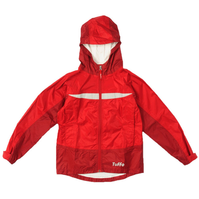 TUFFO KIDS Little Tween Youth Boys or Girl Adventure Rain Coat Red