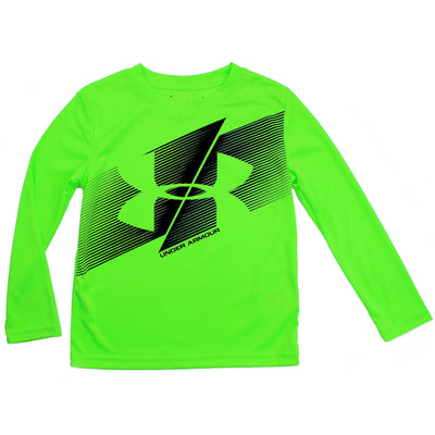 Under Armour Kids Lime Light Long Sleeve Slash Logo Shirt