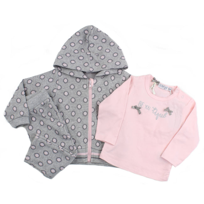 Dirkje Baby Girl Hooded Jacket T-shirt and Pants