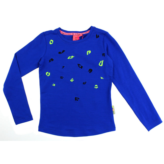 B Nosy Admiral Blue Neon Long Sleeve Shirt