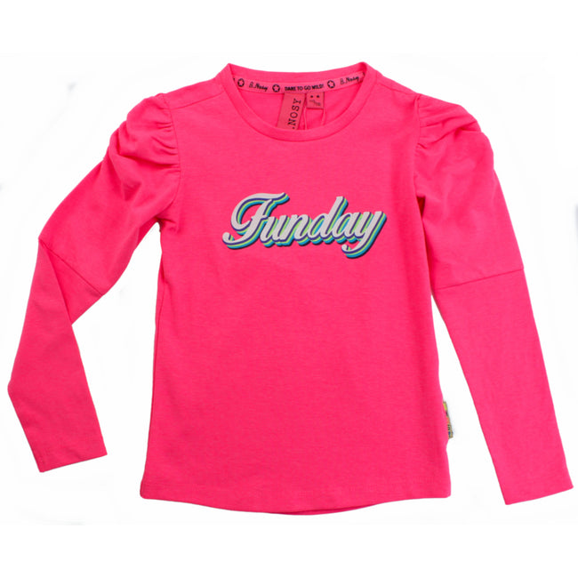 B. NOSY Tween and Teen Girls Pink Funday Long Sleeve Top