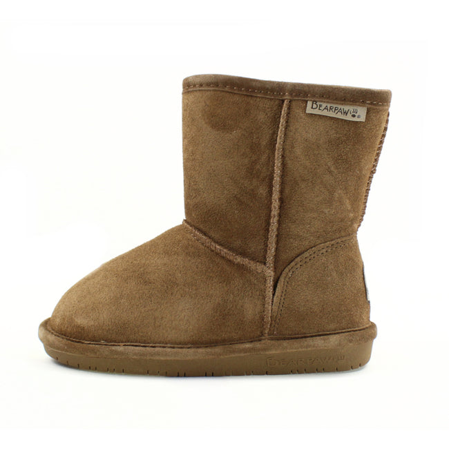 Bearpaw Little Girl Suede Winter Snow Boot Hickory