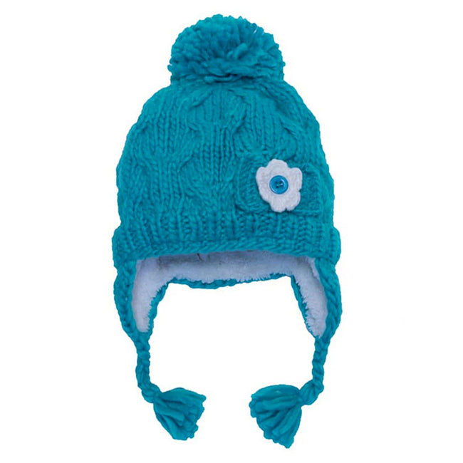 Callikids Little Girl Cable Knit Blue Toque