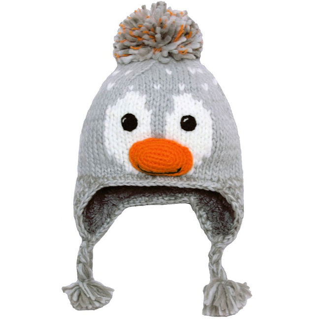 Calikids Girls Animal Face Lined Winter Toque