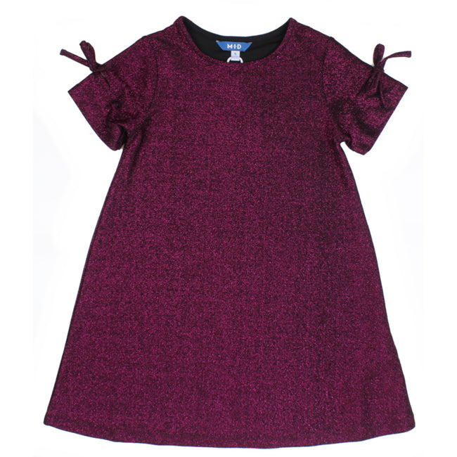 M.I.D. Little to Teen Girls Vibrant Magenta Dress
