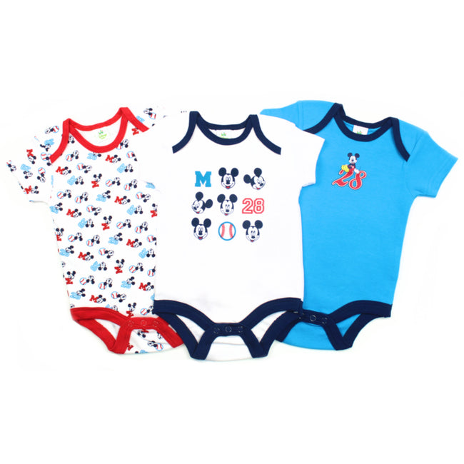 Disney Baby Boy 3 Piece Bodysuit Onsie