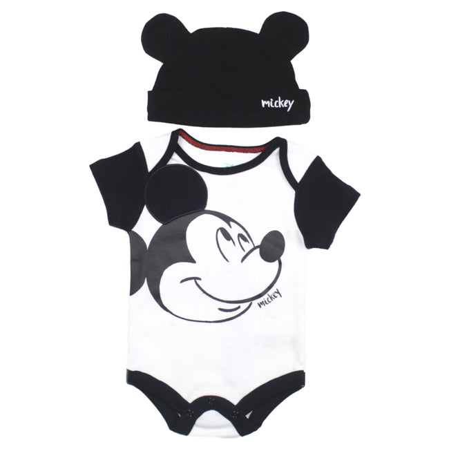 Disney Infant Mickey Mouse Bodysuit with Hat