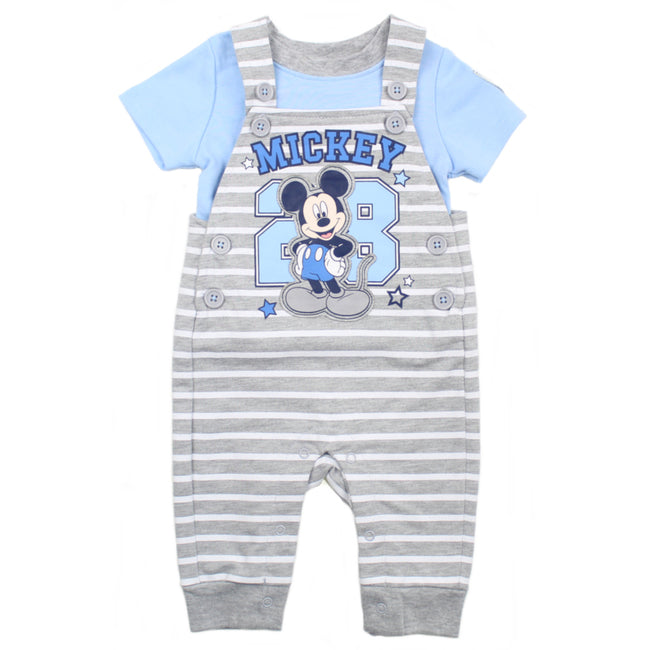 DISNEY Baby Boy Mickey Overall & Shirt Front