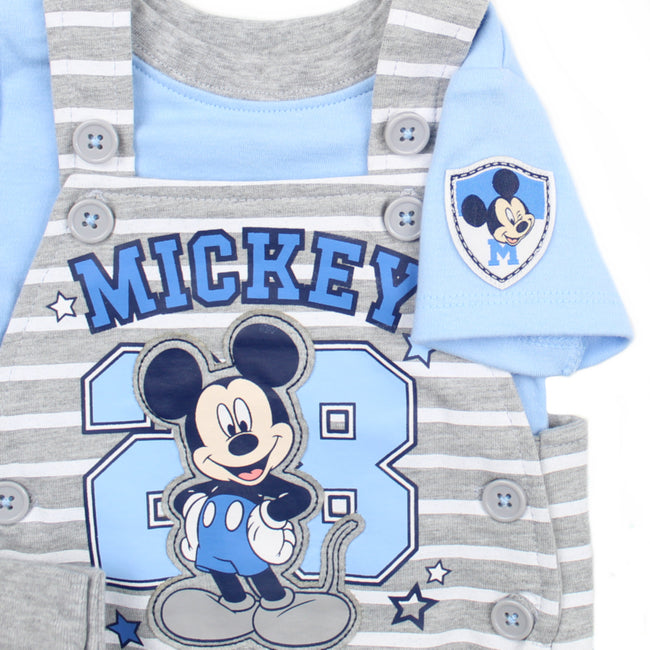 DISNEY Baby Boy Mickey Overall & Shirt Graphic