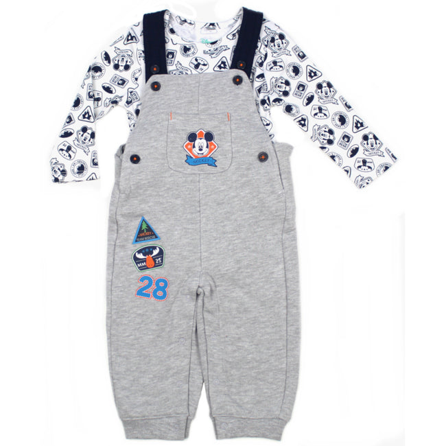 DISNEY Baby Mickey Bodysuit Overall Set Front