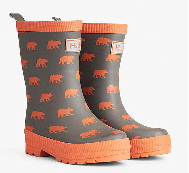 Hatley Kids Little Boys Silhouette Bears Rubber Rain Boots