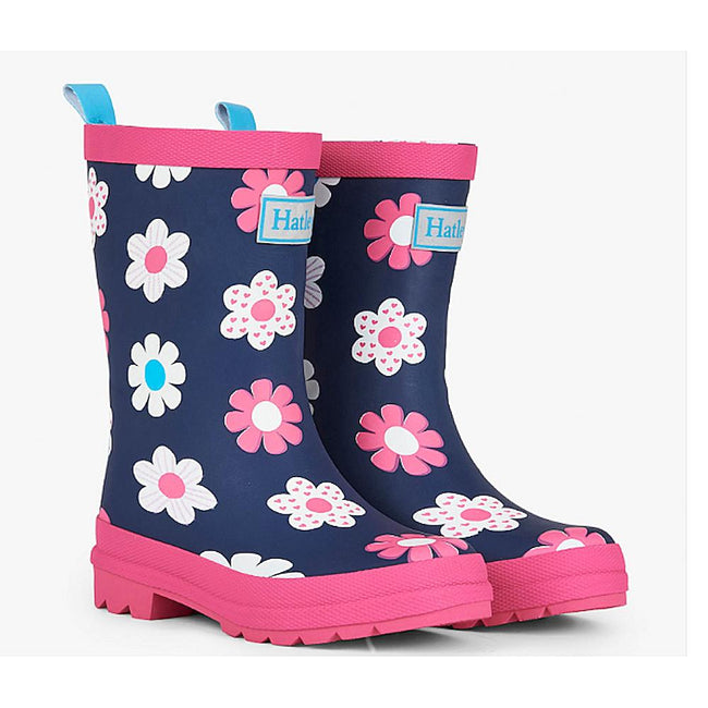 HATLEY Little Girl Spring Flowers Rubber Rain Boot