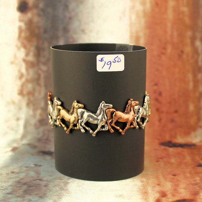 Tri Color Horses Stretchable Bracelet