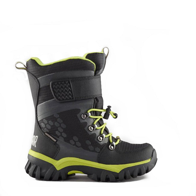 Cougar Kids Youth Boys Winter Snow Boot Turbo 2 Black Lime