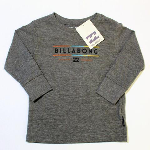 BILLABONG Baby Boy Dual Logo Grey Long Sleeve T-Shirt