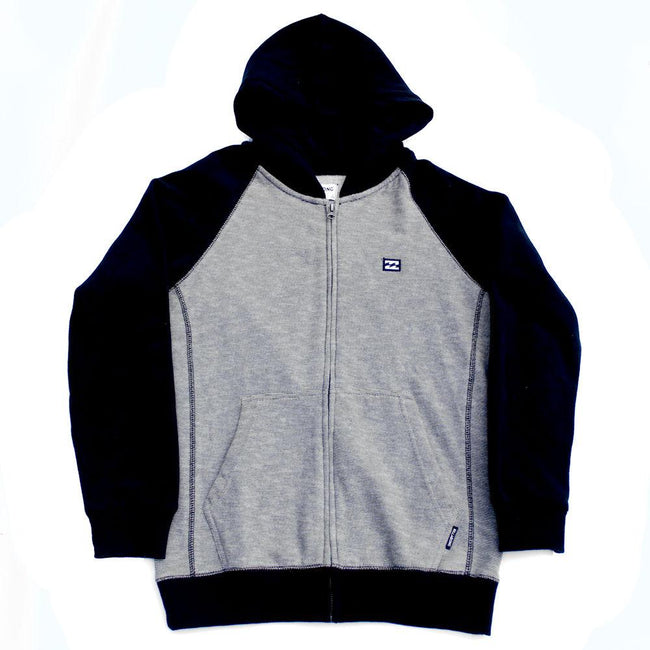 BILLABONG Big Boy Balance Zippered Hoodie Grey/Black