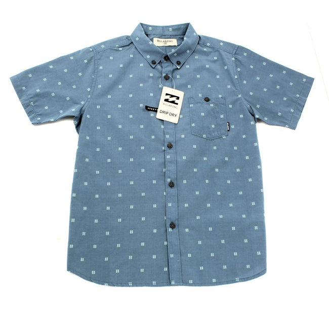 Billabong Boys Button Down Blue Shirt