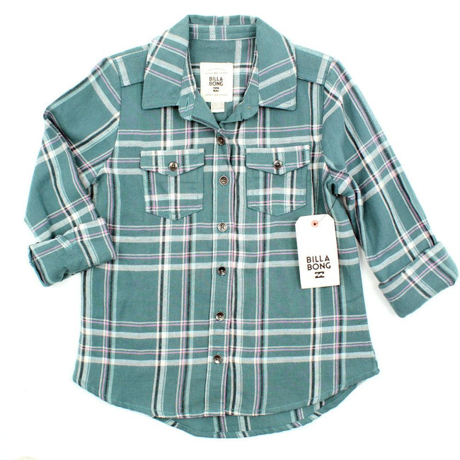 BILLABONG KIDS Big Girl Flannel Shirt Cozy Up