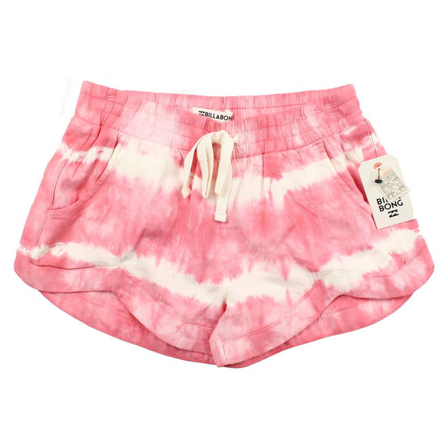 BILLABONG KIDS Big Girl Pink White Tie Dyed Mad For You