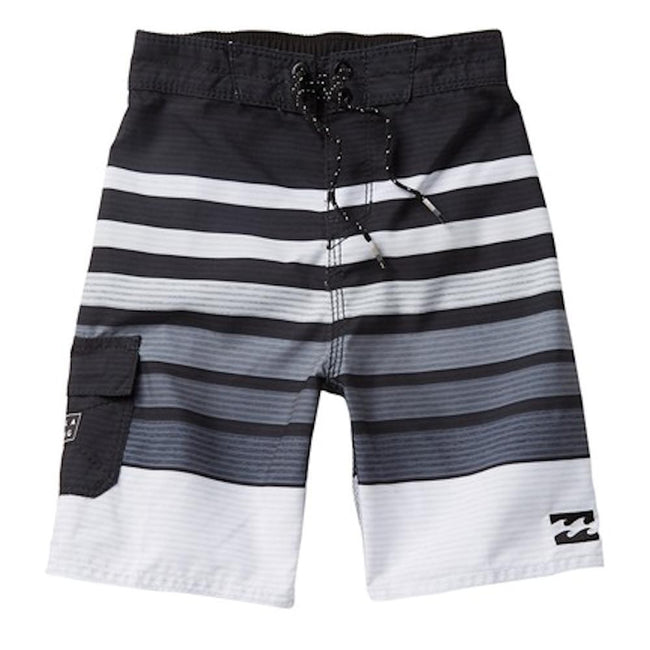 BILLABONG Little Boy All Day Black and White Board Short