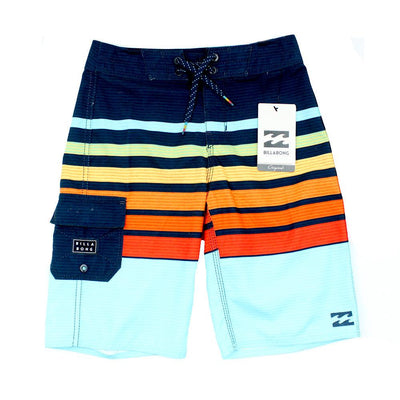 BILLABONG Little Boy All Day Board Shorts Blue Orange Stripe