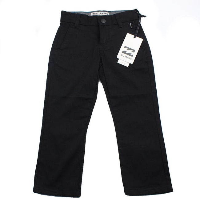 BILLABONG Little Boy Black Carter Stretch Pant