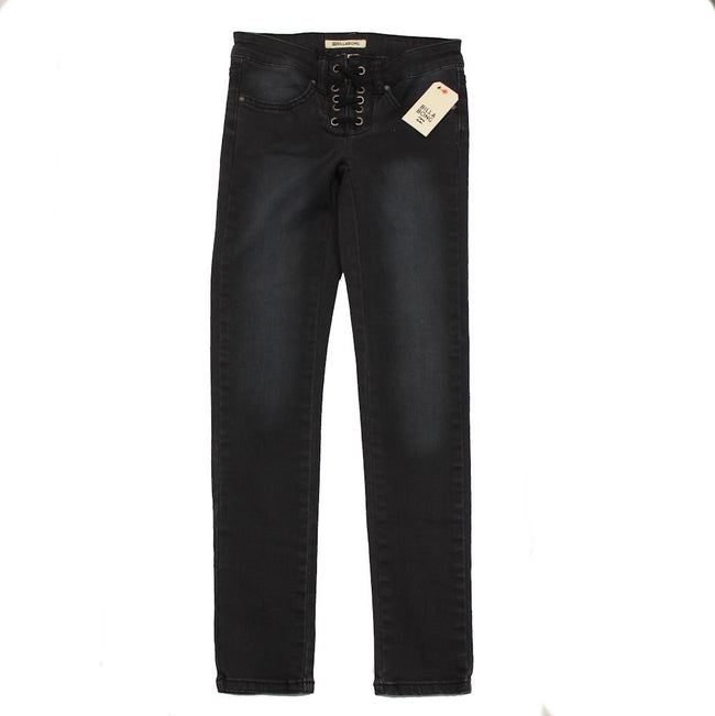 BILLABONG Big Girl Laceup Side to Side Black Jeans