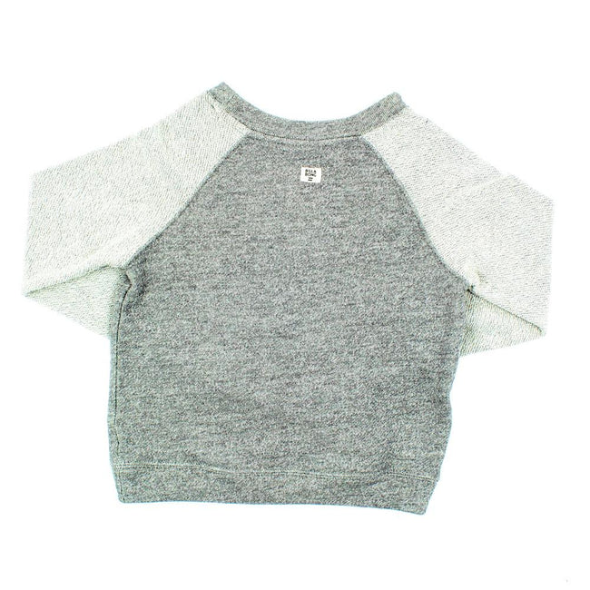 "BILLABONG Little Girl ""Pokerface"" Grey Contrast Sweatshirt"