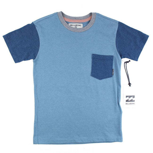BILLABONG Polo Pocket Little Boy Short Sleeve Color Block Tee