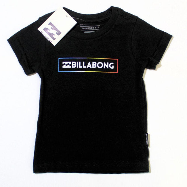 BILLABONG Wave Logo Baby Boy Black Short Sleeve Tee