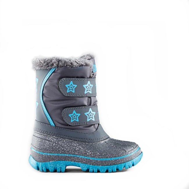 Cougar Kids BRITE Girls Winter Snow Boot Charcoal Blue