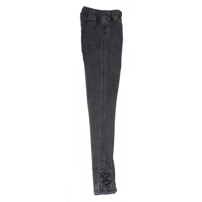 Dex Big Girl Black Acid Wash Jeggings Side
