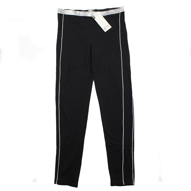 DEX KIDS Big Girl Black Pull On Activewear Pant Front