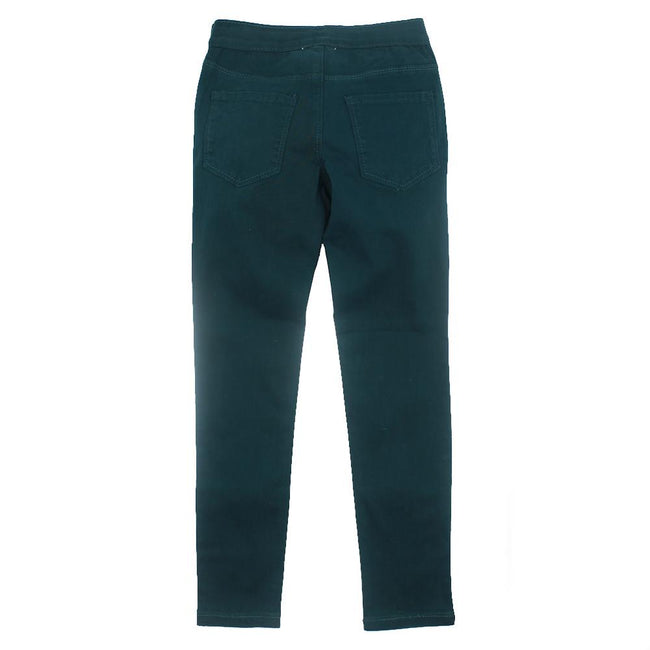 DEX KIDS Big Girl Dark Teal Stretch Jeggings Back