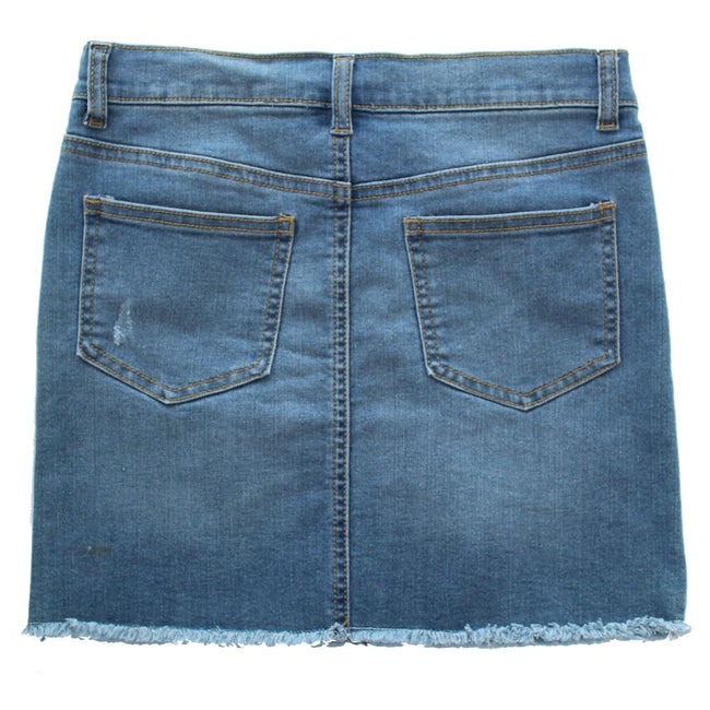 DEX KIDS Big Girl Denim Short Skirt Back