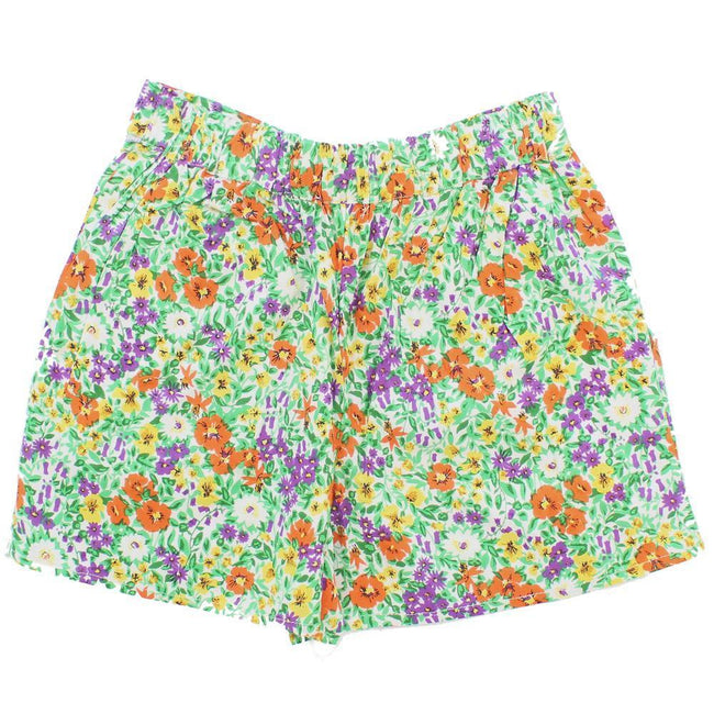DEX KIDS Big Girl Floral Print Shorts Back