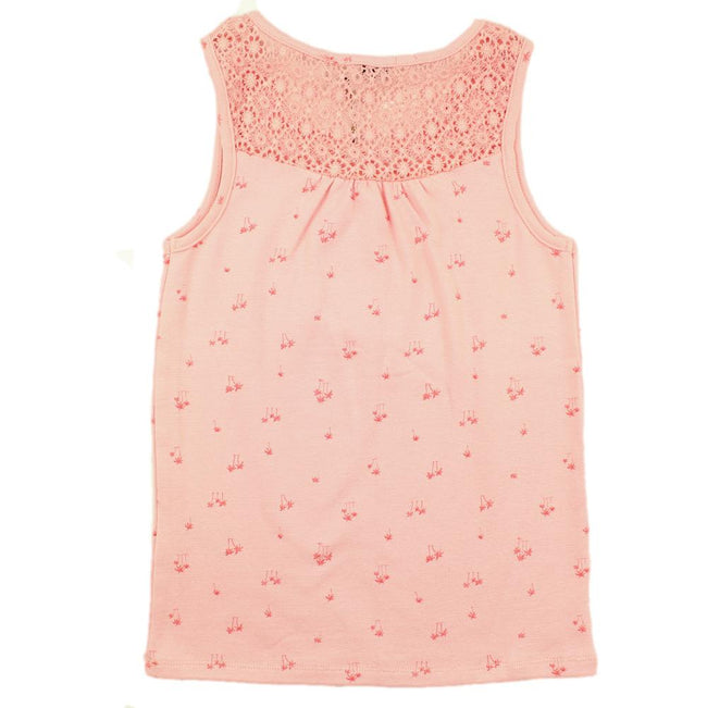 DEX KIDS Big Girl Pink Sleeveless Tank Top Back
