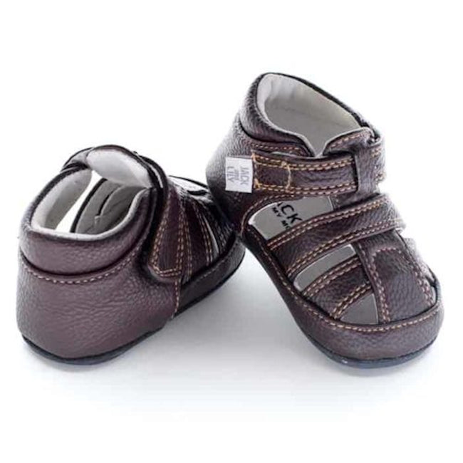 Jack and Lily My Moccasin Baby Boys Brown Sandals