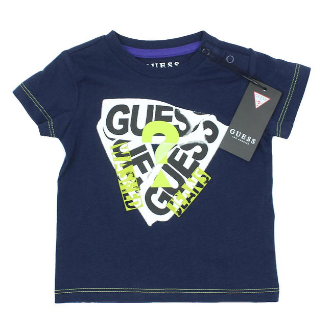 GUESS KIDSWEAR Baby Boy Short Sleeve Dark Blue T-Shirt