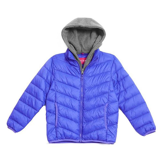 GUESS KIDSWEAR Big Boy Quilted  Blue Puffer Jacket