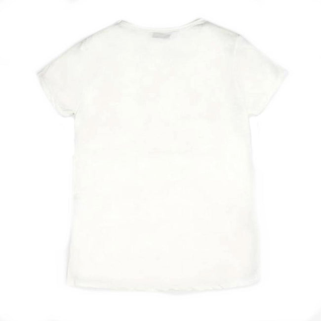GUESS KIDSWEAR Preteen Girl Lily Print Ivory Tee Shirt