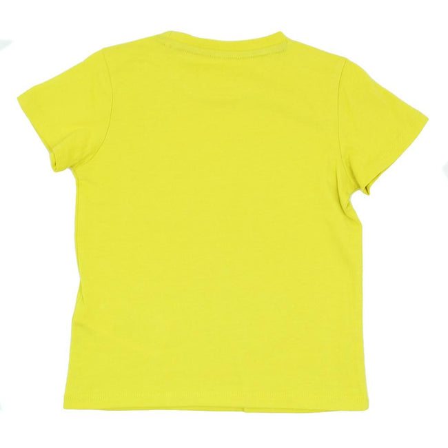 GUESS KIDSWEAR Little Boy Yellow Short Sleeve Tee Shirt Back