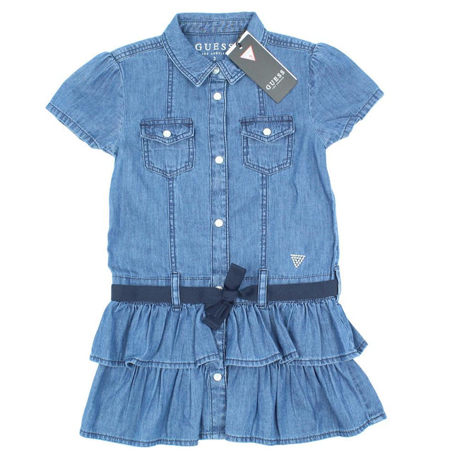 GUESS KIDSWEAR Little Girl Denim Dress Front