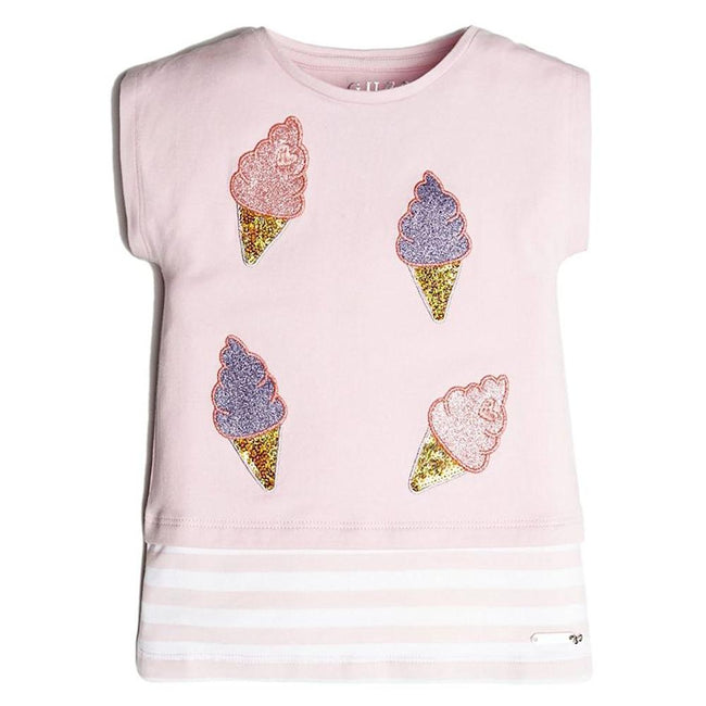 GUESS KIDSWEAR Little Girl Ice Cream Cones Layered Tee Shirt