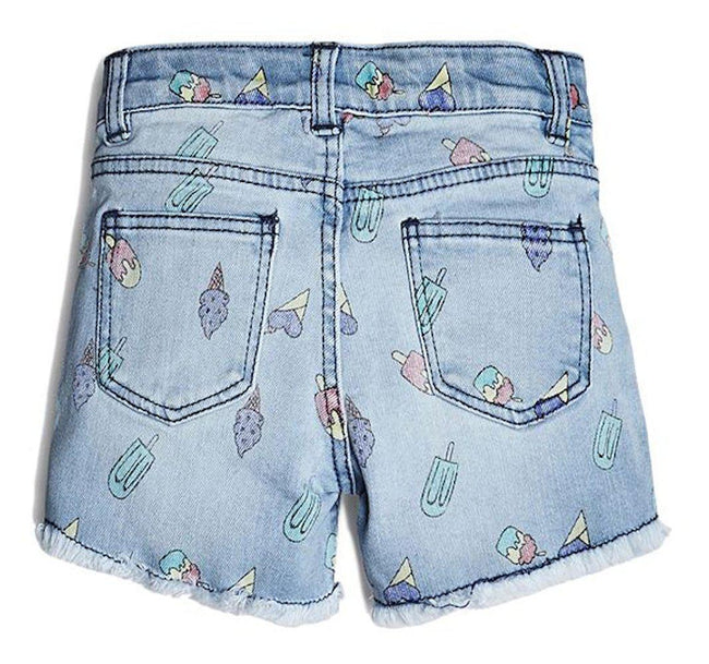 GUESS KIDSWEAR Little Girl Ice Cream Print Shorts Back