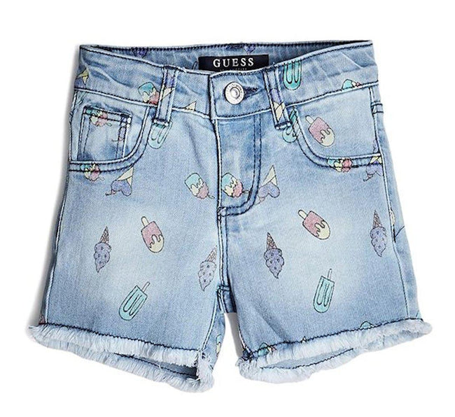 GUESS KIDSWEAR Little Girl Ice Cream Print Shorts