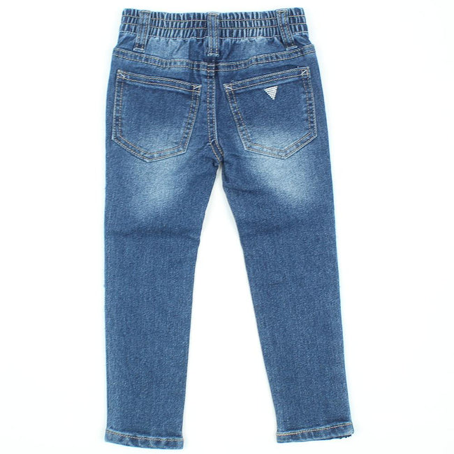 GUESS KIDSWEAR Little Girl Jeans with Side Sequin Detail Back