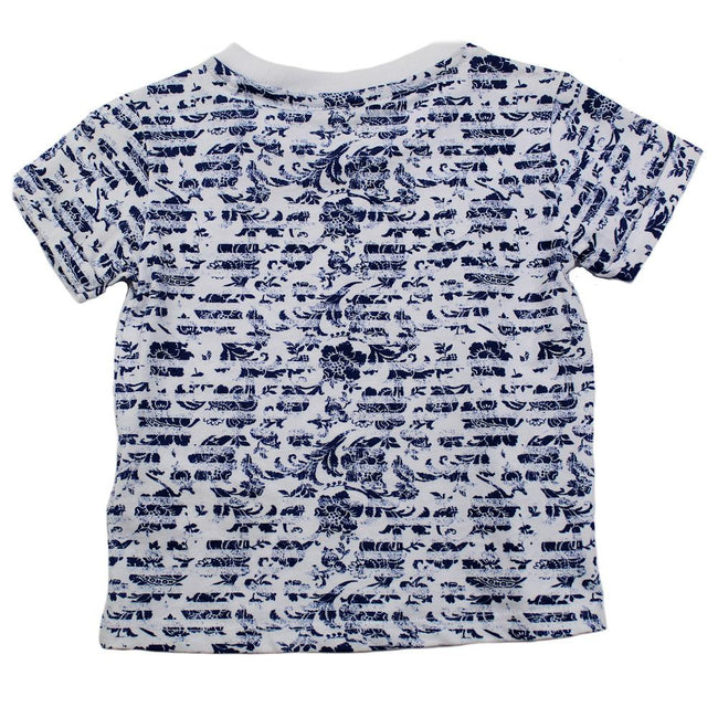 GUESS KIDSWEAR Little Girl Short Sleeve Floral Tee Shirt Back
