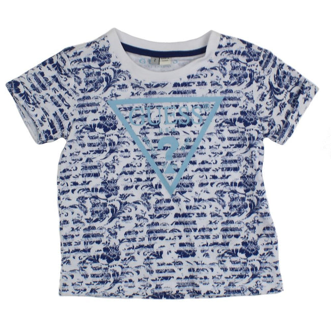 GUESS KIDSWEAR Little Girl Short Sleeve Floral Tee Shirt